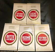 Lucky Strike Luckies American Blend sonst nichts Aufkleber 5 St Reklame Sticker