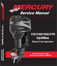2000-2014 Mercury 115 - 135 - 150 - 175 OptiMax Outboard Motor Service Manual CD