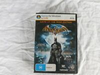 BATMAN ARKHAM ASYLUM - GAME OF THE YEAR EDITION - PC GAME DVD-ROM