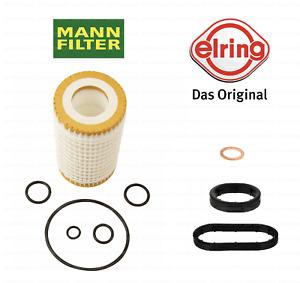 Oil Filter Housing to Oil Cooler Seal Rings + Filter Kit OEM for Mercedes-Benz