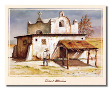 Mexican Desert Mission Spanish Wall Picture Art Print