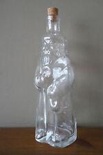Santa Claus Shape Glass Bottle