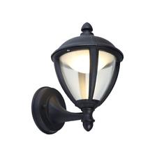 Lutec Unite Up 9 Watt Lantern Exterior LED Wall Light in Black 330 Lumen