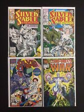 4 Issue Lot - Silver Surfer 69 Infinity War 5 Silver Sable 4 5 Crossover