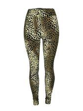 Cheetah Black & Tan Print Yoga One Size Leggings OS Buttery Soft Free Shipping