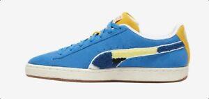 PUMA X BLACK FIVES SUEDE CLASSIC 381957-01 Blue/Yellow Mens lifestyle Shoes 8-13