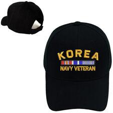 MILITARY BASEBALL CAP HAT KOREA NAVY VETERAN RIBBON