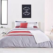 Lacoste Auckland Red Duvet Cover Set - Full-Queen (MSRP $300) NEW