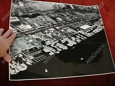16x20 1960s RALPH FOSTER AERIAL PHOTO Newport Beach PCH Crab Shack A'MAREE'S F6