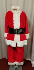 """Santa Claus plush suit with belt  cherry red 52"""" chest"""
