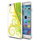 For Various Phones Design Hard Back Case Cover Skin - Elegant White Green Mix