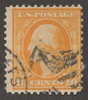 1909 US, 10c stamp, Used, George Washington, Sc 364, Cv 7000$