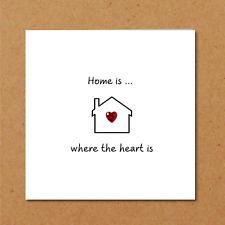 New Home / House / Flat CARD - Birthday, Valentines, Anniversary - Love Heart