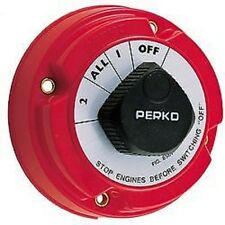 PERKO BATTERY SELECTOR SWITCH Marine Boat Batteries Power Control Switch #11501