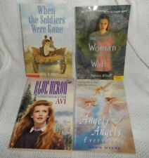 Lot of 4 Children's Books- Blue Heron, Woman in the Wall, Angels, When the Sold.