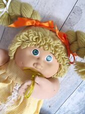 ❤️ Cabbage Patch Kid JESMAR Honey Blonde Girl Doll Pacifier 1985 With Playsuit