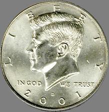 2001 P & D Kennedy Half Dollar pair Choice/Gem Bu Set from mint sets No Reserve