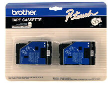 "New Brother TC20 Black on White Tape 1/2"" P-touch, Ptouch TC-20"