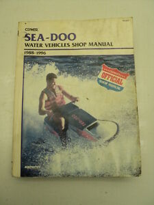 Sea Doo Clymer Water Vehicles Shop Manual #ZZ-2249
