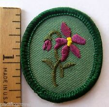 Retired Oval Girl Scout PURPLE VIOLET TROOP CREST Flower Patch Badge Troop ID