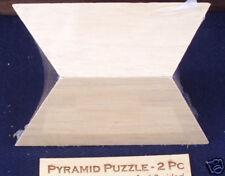 2 piece pyramid puzzle wood brain teaser sz large