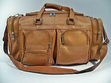 "Colombian Top-Grain Leather 20"" Duffel Bag w/ Shoulder Strap, Duffle"