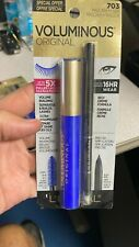 1 Loreal Voluminous COBALT BLUE 703 Mascara & BLACK Liner 16 Hr Original SEALED