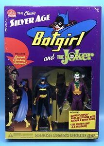 Dc Direct Classic Silver Age Batgirl & The Joker Deluxe Action Figure Set Batman