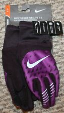 New! Womens Nike Therma-Fit Elite Gloves (Running; Tech Touch; Purple) - Small