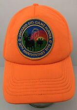 Vtg Ontario Big Game Hunter Hat w Patch Blaze Orange 30th Anniversary SnapBack