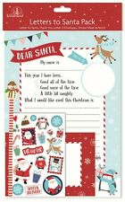 Christmas Letter to Santa Pack Thank You Santa Letter Stickers Pencil Eraser