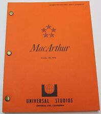 MacArthur * 1974 Movie Script * World War II, Biography History Film