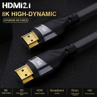 8K HDMI Cable 4K@60Hz 8K@60Hz Real UHD HDR 8K 48Gbps Converter HDMI 2.1 Cable