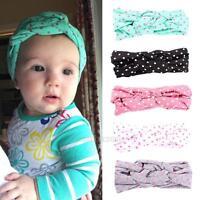 5Pcs/ Lot Kids Girls Baby Toddler Elastic Knot Cross Headband Hair Band Headwear