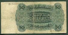 F.C. ALEMANIA GERMANY , 50 REICHSMARK 1928 , B/C ( FINE ) , SUCIO , P.177 .