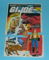 1989 GI Joe Gnawgahyde v1 Dreadnok Poacher Figure w/ File Card Back *Complete