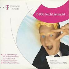 CD von T Com zur Inbetriebnahme von T-DSL mit T-DSL Speed Manager und Handbuch