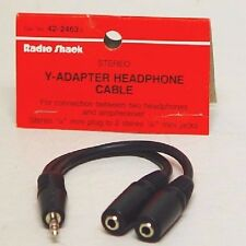 RADIO SHACK Y-ADAPTER STEREO HEADPHONE BOAT CABLE
