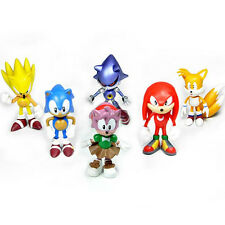 6pcs Fun Cute Sonic the Hedgehog Action Figures Doll Kids Boy Girl Toy Xmas Gift