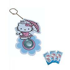 3 x Deodorante per auto Hello Kitty - Fragranza Zucchero Filato (Candy Floss)