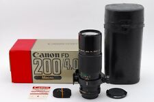 RARE!!【EXC+++++ in BOX】Canon New FD 200mm F4 macro MF Lens w/Case from Japan#638