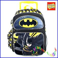 "Batman Rolling Backpack 16"" Large School Rolling Backpack Roller"