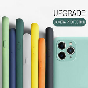 For iPhone 12 Pro Max 11 XS XR X 8 7 Plus Shockproof Liquid Silicone Case Cover