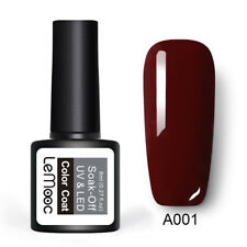229 Colors LEMOOC Nail Gel Polish Soak off Pure Color Glitter Sequins Gel 8ml