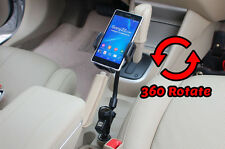 Universal Duo USB Cigarette Socket Car Mount Holder Stand for Sony Xperia XA1/XZ