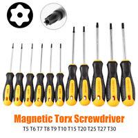 1PC Tamperproof TORX Magnetic Screwdriver Star T5-T30 Torx Drive NEW