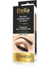Delia Cosmetics Korektor do brwi żelowy z keratyną czarny  7ml