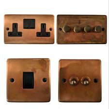 Tarnished Copper CTCB Light Switches, Plug Sockets, Dimmer Switch, Cooker, Fuse