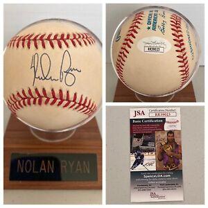 Nolan Ryan Signed Autograph American League Baseball + Holder - JSA - FREE S&H!