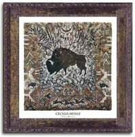 The Hunt- Art Print by Cecilia Henle - Bison Hunt Buffalo